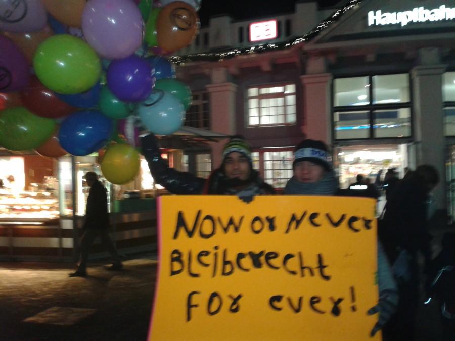 Now or never -> Bleiberecht