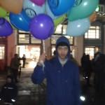 Junge mit Ballon