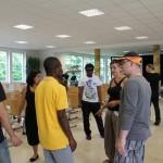 Wie verwandeln wir eine Krankenhaus - Mensa in 3 Stunden in einen strahlenden Galla Ort?