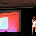Präsentation über Die Reise nach Lesvos im Oktober